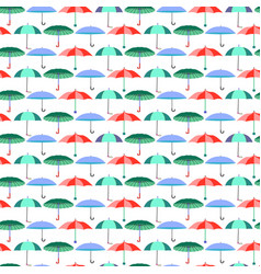 pattern with umbrellas in flat style vector image vector image