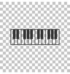Piano keyboard sign dark gray icon on transparent vector