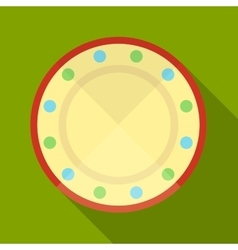 Plate icon vector image vector image