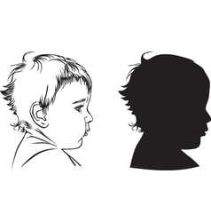 Profile baby vector