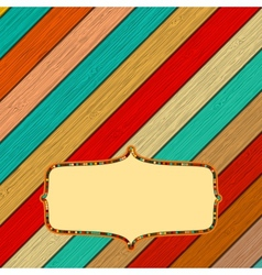 Retro color wooden frame with frame EPS8 vector image vector image