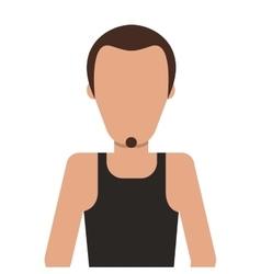 Single man with facial hair icon vector
