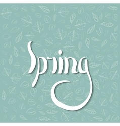 spring draw Lettering vector image