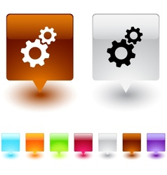 tools square button vector image
