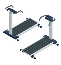 Treadmill isometric treadmill vector