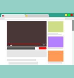 View videos in browser window vector