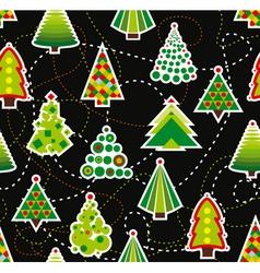 Seamless Christmas Tree Background vector image