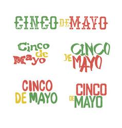 Cinco de mayo badges holiday typography design vector