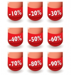 discount shop shield vector image