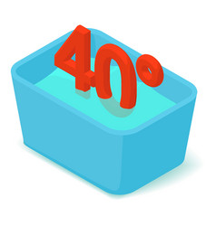 Basin 40 degrees icon isometric 3d style vector