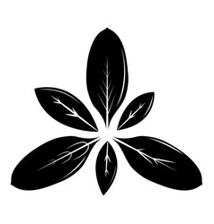 leaf icon simple black style vector image