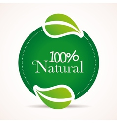 100 percent natural design vector