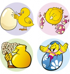 Easter chicks vector