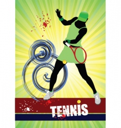 Woman's tennis poster vector