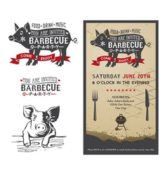 Barbecue pig vector