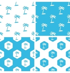 Palm tree patterns set vector