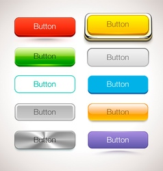 Collection of buttons in different style vector