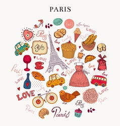 Paris icons vector