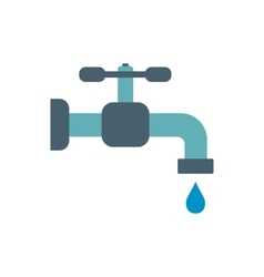 Faucet flat icon vector