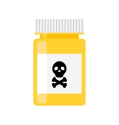 Poison pharmacy bottle icon vector