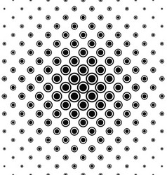 Abstract monochrome circle pattern background vector
