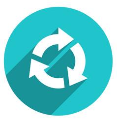 Arrow sign repetition icon circle button vector