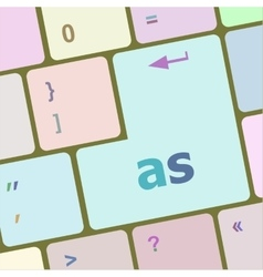 as button on computer keyboard key vector image vector image