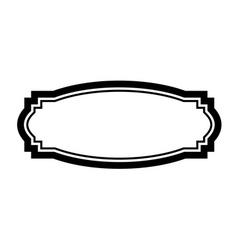 Black frame design simple vector