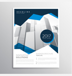 Blue business annual report brochure template vector