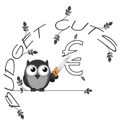 Budget cuts euro vector
