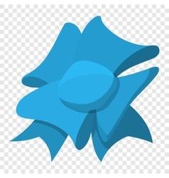 Cartoon bow blue sign vector image