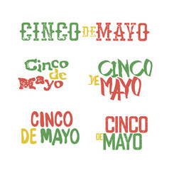 cinco de mayo badges holiday typography design vector image