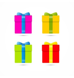 Colorful Present Box Gift Box Set vector image vector image