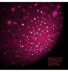 Disco ball Disco background vector image vector image