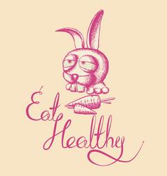 Eat healthy poster vector