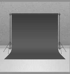 empty black photo studio vector image