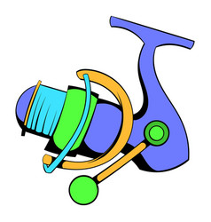 Fishing reel icon icon cartoon vector