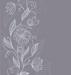 floral back grey vector image