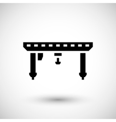 Gantry crane icon vector image