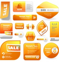 great set of sale signs vector image