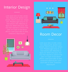 interior design and room decor vector image