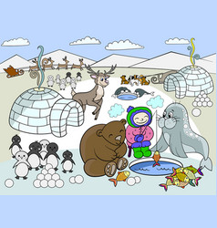kids north pole vector image vector image