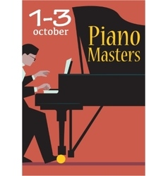 Live concert of piano masters poster vector