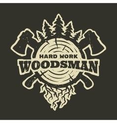 Lumberjack emblem t-shirt design vector