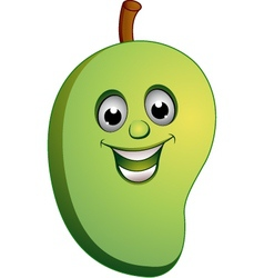 mango smile vector image vector image