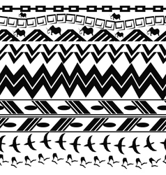 Monochrome seamless texture in tribal style vector image