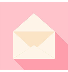Open envelope over light pink vector image vector image
