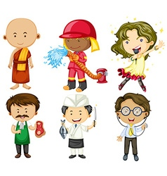 People doing different jobs vector