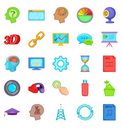 Progress icons set cartoon style vector
