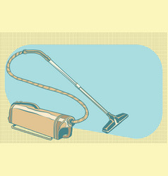 Retro vacuum cleaner vintage vector